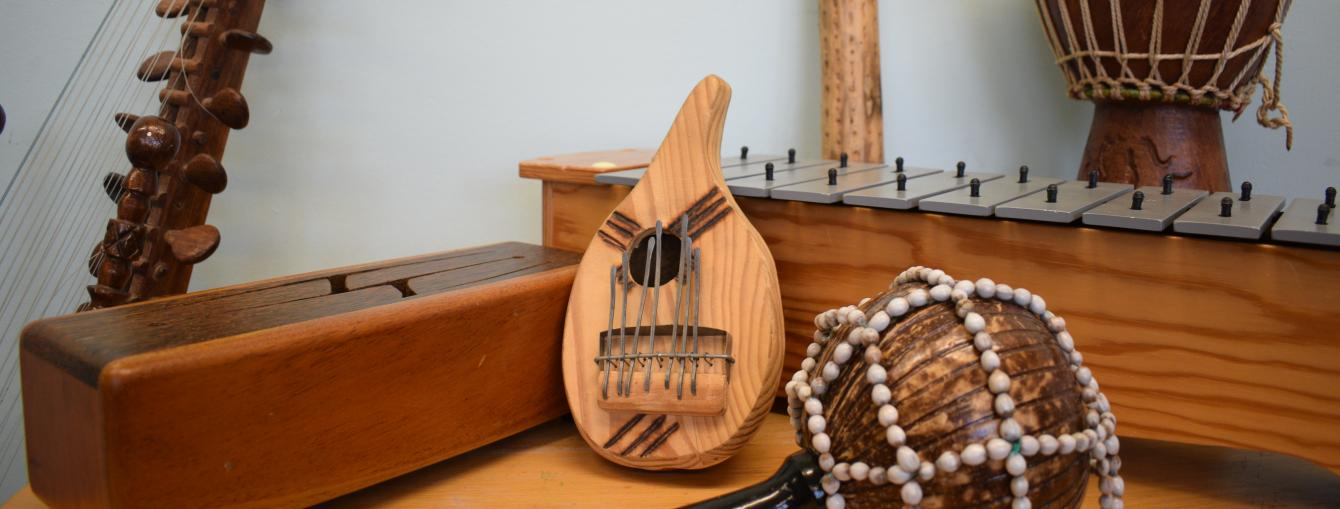 Music instruments used for therapy at Freedom from Torture