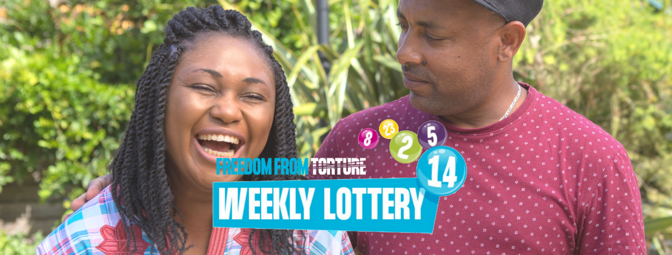 Lottery banner Freedom from torture