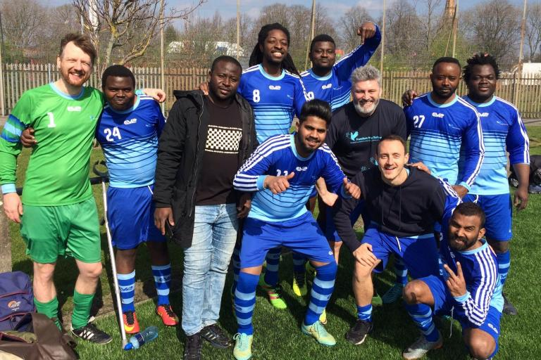 Football team at our North West centre in Manchester