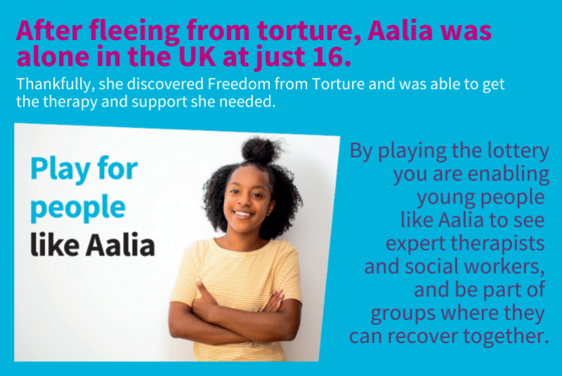 aalia lottery freedom from torture