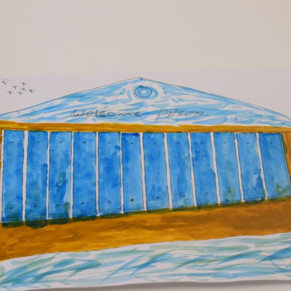 Illustration of Yarls Wood Detention Centre