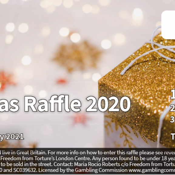 Artwork of the Christmas Raffle ticket