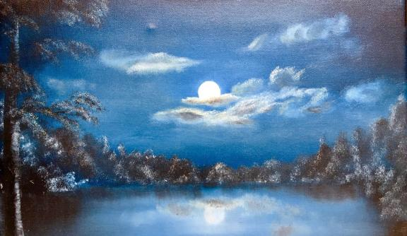 """Moonlight"" by Freedom from Torture client Iqbal, to be featured in November's exhibition"