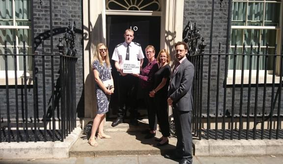 Outside No 10 Downing Street
