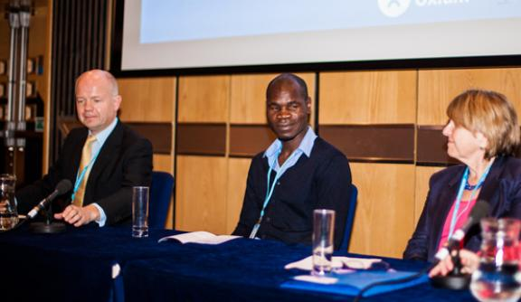 Kolbassia Haoussou (centre) on the panel